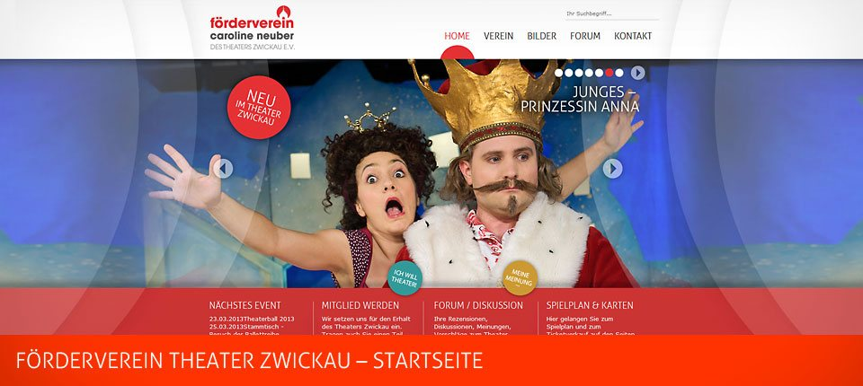 Förderverein Theater Zwickau Website